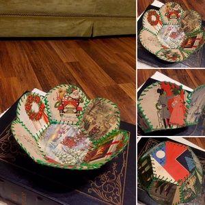 🦋2/$10 3/$15 4/$18 5/$20 Vintage Xmas Card Basket